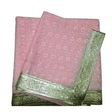 Pink Cotton Chikan Rumala Sahib