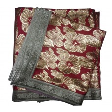 Red Color Rumala Sahib with Golden Flowers