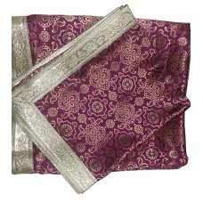 Purple Color Broccade Rumala Sahib