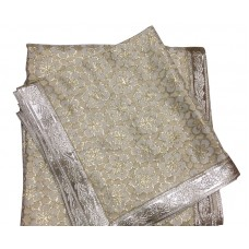 Golden Color Zari Rumala Sahib with Gota Border