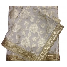 Silver Color Rumala Sahib with Zari and Golden Gota