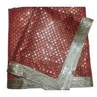 Red Sequence and Thread Work Embroidery Rumala Sahib