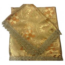 Golden Rust Rumala Sahib in Synthetic Broccade
