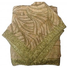 Cream Rumala Sahib with Velvet Fur