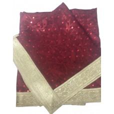 Maroon Sequence Rumala Sahib Silk Self