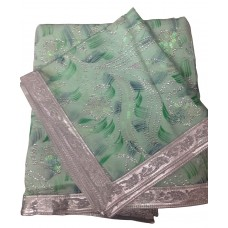 Green Painted Rumala Sahib with Sequence All Over
