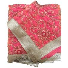 Pink Silk Rumala Sahib with Embroidery