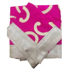 Magenta Rumala Sahib with White Patch Work