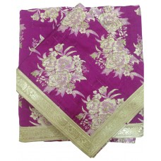 Magenta Print Rumala Sahib with Embroidery