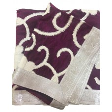Brown Rumala Sahib with White Patch Work