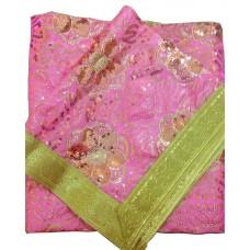 Pink Silk Rumala Sahib with Sequence All Over